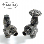 Abbey Manual Pewter Radiator Valve